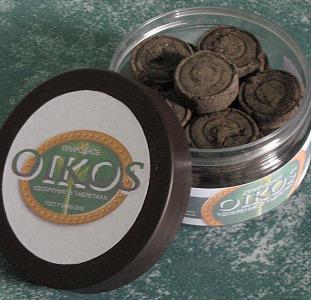 Таблетированное удобрение из сапропеля Oikos в баночке