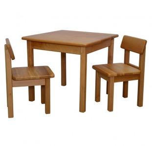 Разное Детский столик и 2 стульчика (бук)
