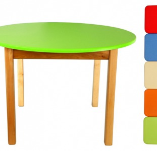 Детские столики круглой формы (зелёный)