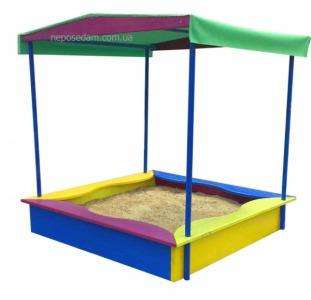 Песочницы для детей, песочница с лавками и крышкой.