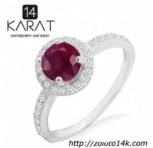 Серебряное кольцо с натуральным рубином 0,80 карат 16-19,5 мм. НОВОЕ (Код: к1026)  100% натуральные