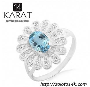 Серебряное кольцо с натуральным топазом 0,80 карат и цирконами. Есть серьги и кулон в комплект.Новые