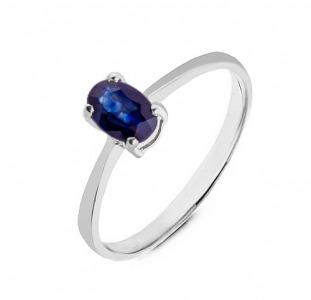 Золотое кольцо с сапфиром 0,50 карат (Код: 17110). НОВОЕ