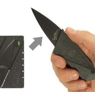 Нож визитка,  нож кредитка,  нож раскладной
