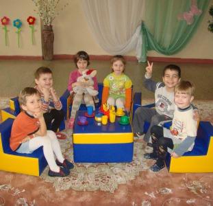 Детская игровая мебель, мягкие модули, сухие бассейны,маты и другие изделия для детских комнат
