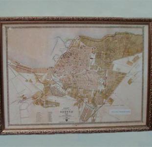 Старинная карта Одессы 19 века