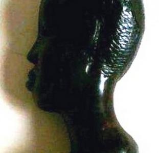"Интерьерная статуэтка ""Голова африканца""."