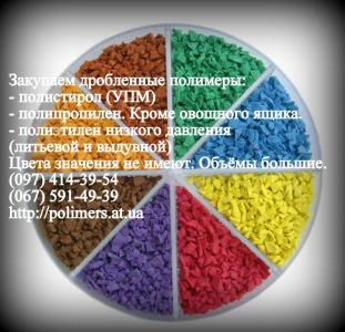 Купим дробленный полипропилен (ППР),  полистирол (ПС-УПМ)