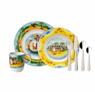 Детское питание Стильный набор детской посуды Villeroy & Boch коллекция Chewy's Treasure Hunt
