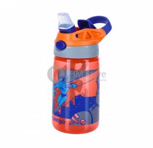 Надежная детская фляга Contigo Gizmo Flip, Tangerine Superhero