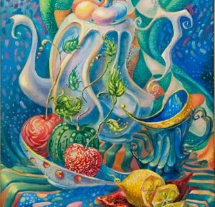 """Выставка картин Марины Лялиной """"Времена года"""" в ресторане PODKOVA"""