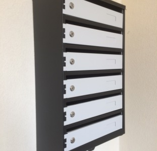 Скринька поштова металева на 6 секцій