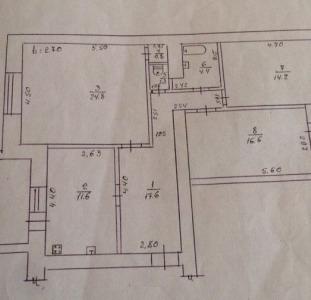 Продам 3- х комн. просторную квартиру на 6 Фонтана в доме из красного кирпича.