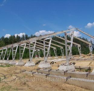 Будівництво корівників, свинокомплексів. Монтаж металоконструкцій.