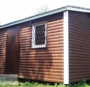 Вагончик из блок-хауса (имитация бревна) размер 6х3 м