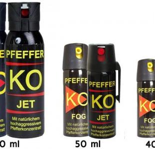 В продаже  знаменитые газовые баллончики немецкого производства КО FOG  и КО JET