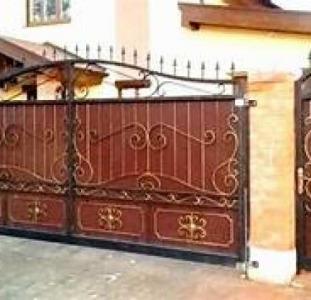 Кованные и сварные ворота и калитки, расчет, доставка, монтаж