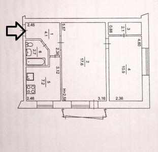 Продам 2-х ком.квартиру по адресу пр-т.Гагарина 169а.