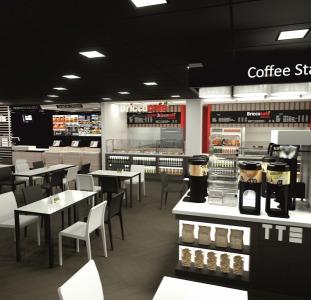 Продавец в кафе аэропорта (Польша)