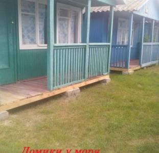 Дома Деревянные домики на Азовском море. Арабатская стрелка. Счастливцево.