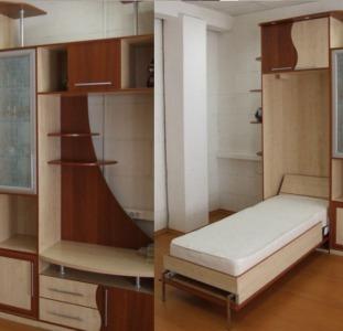 Шкаф-кровать в виде конструктора