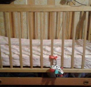 Кроватка детская + матрасик ортопедический б/у