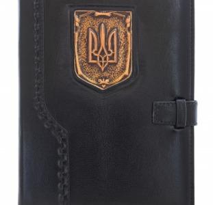 Кожанный ежедневник Герб Украины
