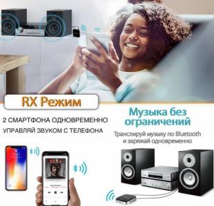 Bluetooth адаптер для TV / для наушников / компьютера / авто