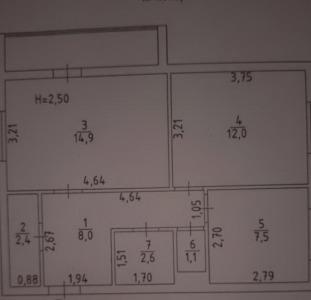 Продам 2-комнатную 3/14, ул.Малиновского/Рабина