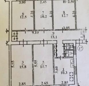 Продам комнату в коммуне 4/5, 1ст.Люстдорфской дор.