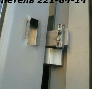 Замена петель в алюминиевых и металлопластиковых дверях Киев