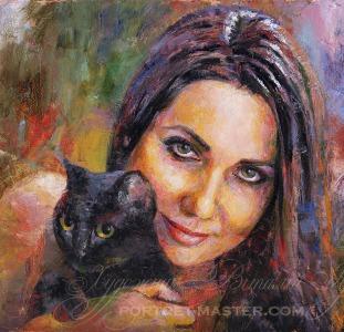 Портрет мастихином, заказать портрет в Киеве, заказ портрета маслом в Киеве