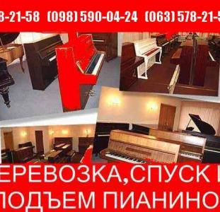Перевозка пианино по Киеву недорого! Грузчики