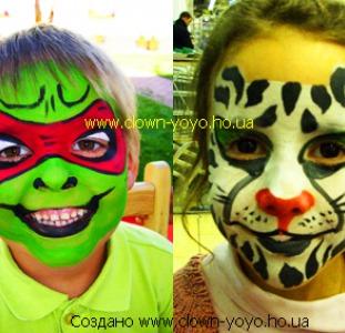 Детские праздники с клоунами аниматоры аквагрим