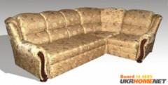 Обивка (ткань,кож.зам). Раскладной Угловой диван Юстас фабрики Бис-М.