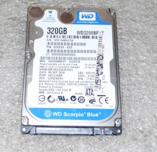 Жесткий диск WD Blue 320GB 2.5