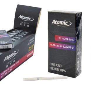 Подарки Опт фильтры 5.7 мм ультра слим угольные Atomic