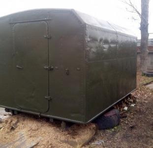 Кунг демонтируемый с автомобиля ГАЗ-66,  полностью оцинкован внутри