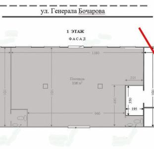 Сдам в аренду фасадное помещение 51 кв.м.