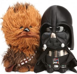 Мягкая музыкальная игрушка Звездные Войны - Дарт Вейдер, Чубака, R2-D2