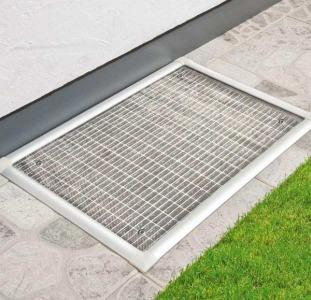 Алюминиевая защита для канализации Powerfix 115 x 50 см Металлик
