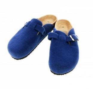 Мужские комнатные тапочки Tesco 43 синий-бежевый R3-330003