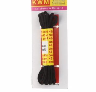 R5-330003, Шнурки чёрные 45 см,  черный