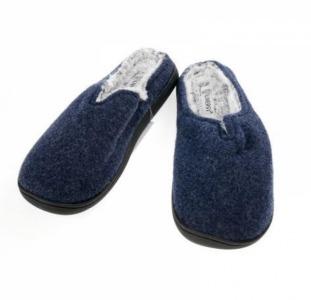 Тапки мужские утепленные LIVERGY 44/45 темно синий-серый Es-370001