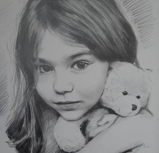 Портрет, нарисовать, на заказ, по фото, недорого, карандаш