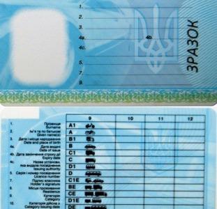 Водительские права удостоверение с нуля киев украина
