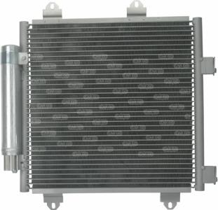 Радиатор кондиционера Тойота айго 1.0 1.4 Toyota Aygo HDi, (2005-2014)