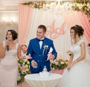 Выездная свадебная регистрация.Ведущая церемонии - Татьяна Катрич.Одесса