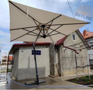 Купить садовый зонт Киев. Зонты консольные для кафе, ресторана, сада, Scolaro