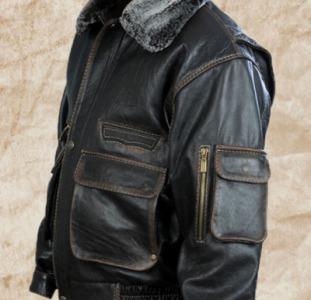 """Демисезонная мужская кожаная куртка """"Полиция 11"""""""